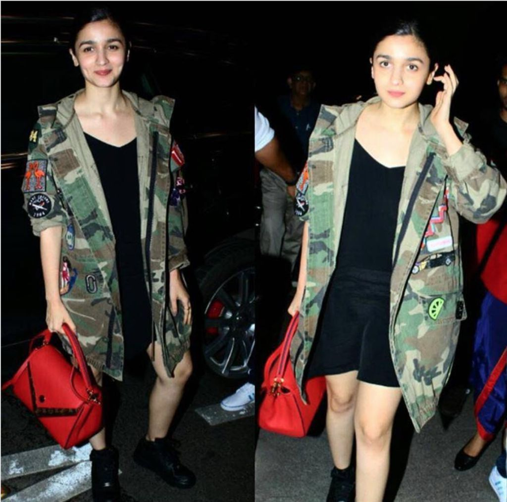 Alia with a red bag
