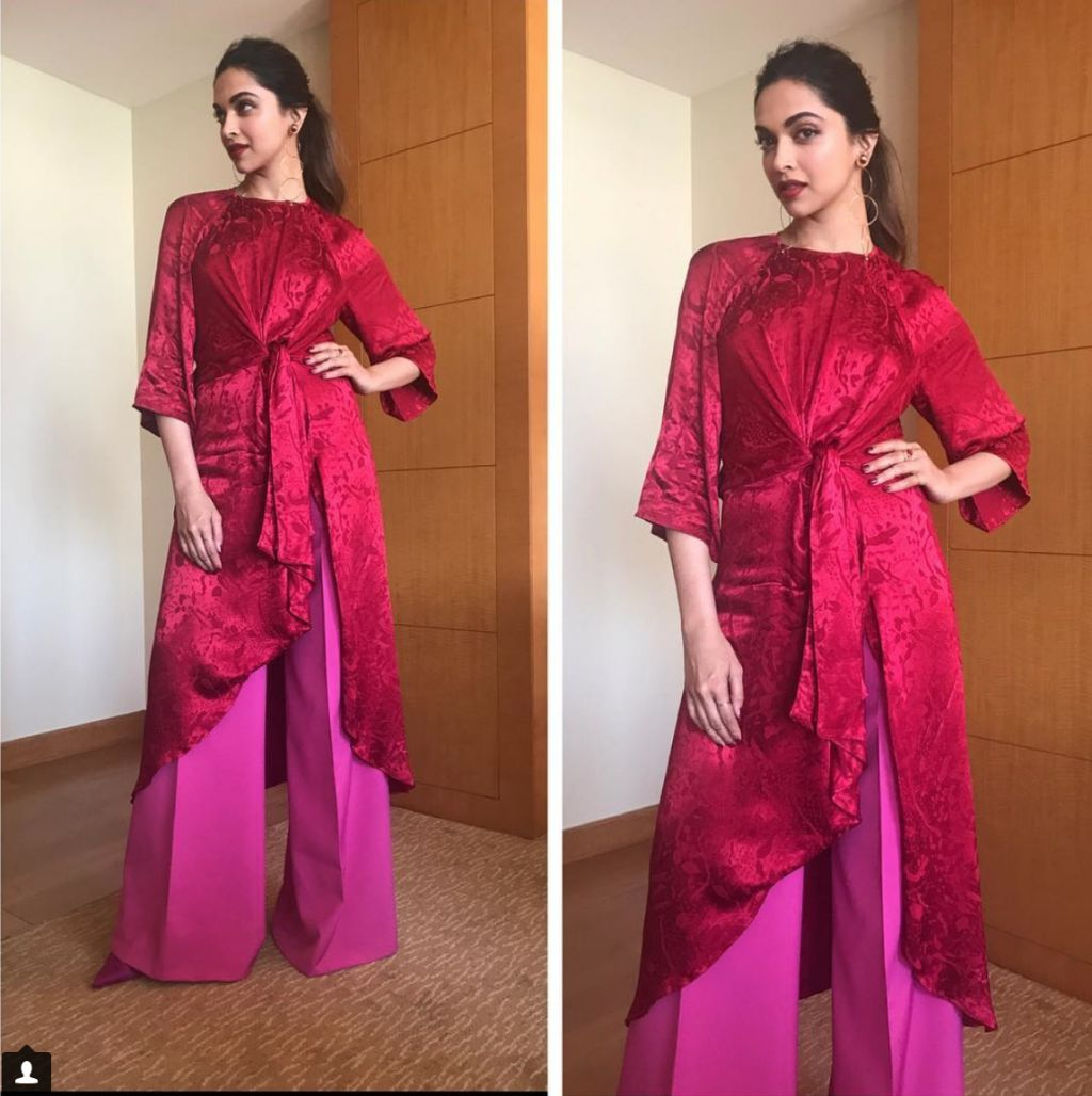 Deepika in red outfit