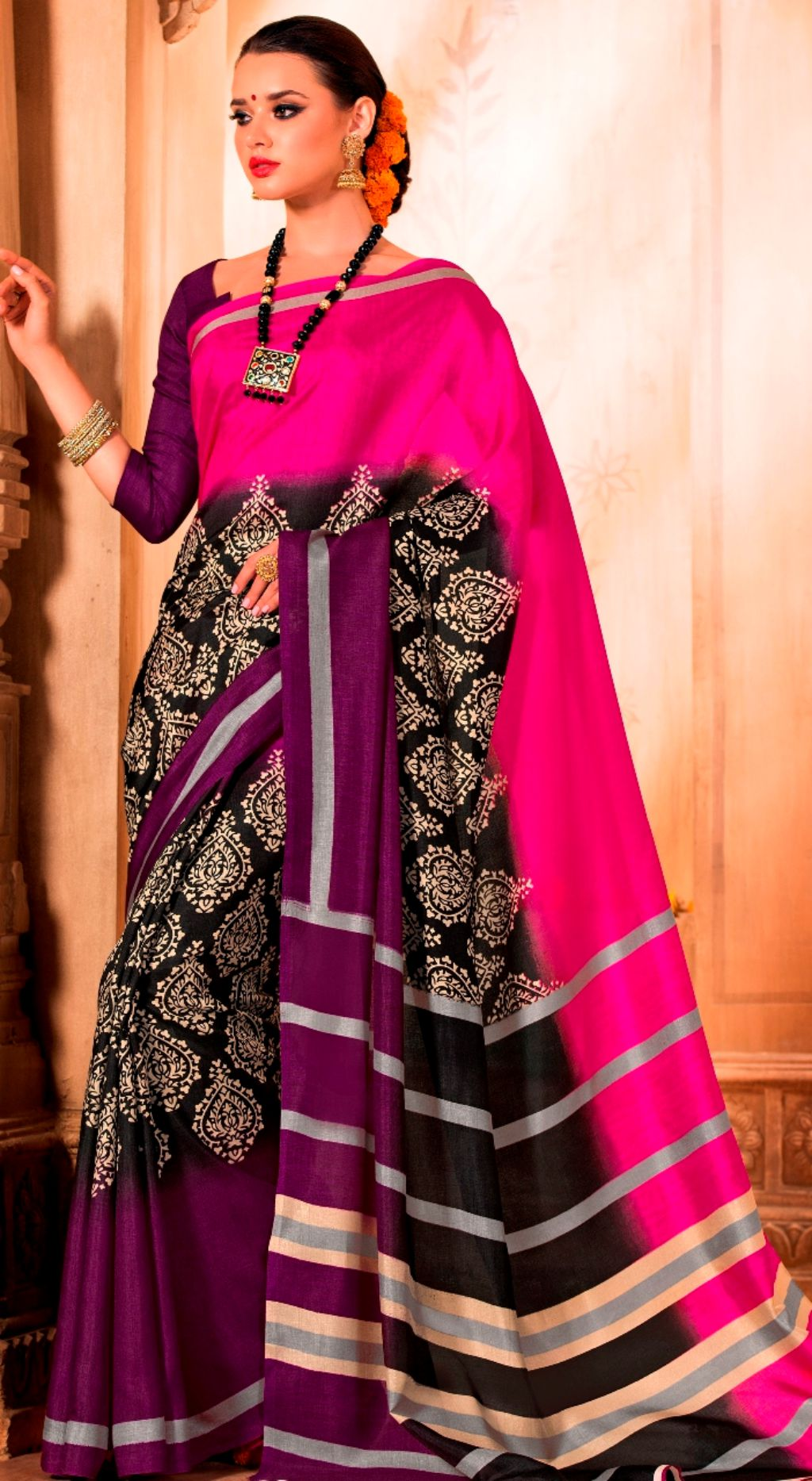 Look taller in your indian wear Drape Saree