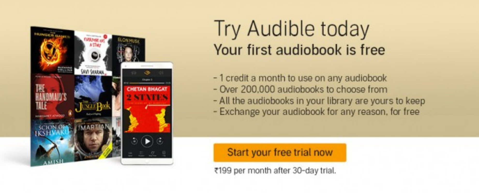 audible india free