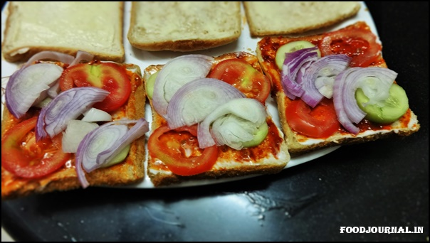 Egg Veggie Sandwich 3
